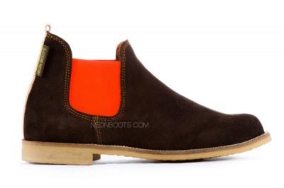 Neon Boots Serraje Marrón