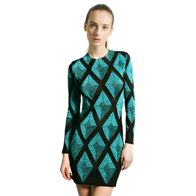 Diamond stretch dress